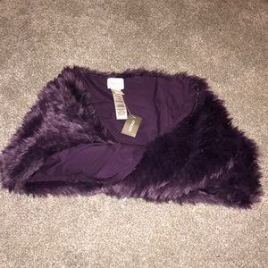Chico's Faux Fur Purple Shrug/ wrap/ stole